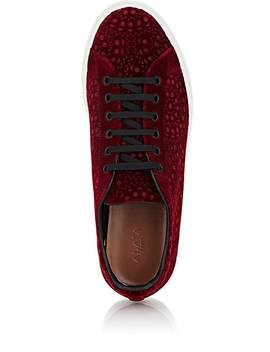 geometric-pattern-velvet-sneakers by alaïa
