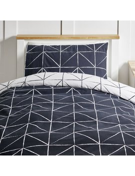 wilko-open-triangle-duvet-set-single by wilko