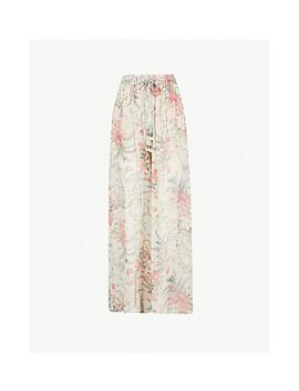 bayou-floral-print-wide-leg-silk-chiffon-trousers by zimmermann