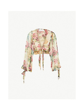 melody-silk-chiffon-top by zimmermann