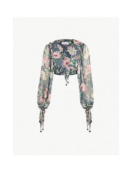 melody-floral-print-silk-chiffon-wrap-top by zimmermann