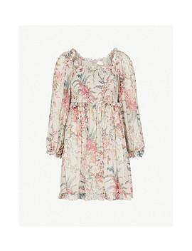 bayou-flare-silk-mini-dress by zimmermann