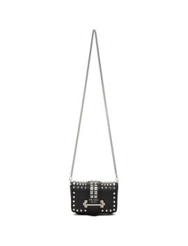 black-small-studded-cahier-chain-belt-pouch by prada