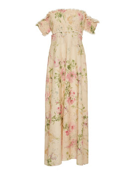 Iris Shirred Bodice Long Dress by Zimmermann