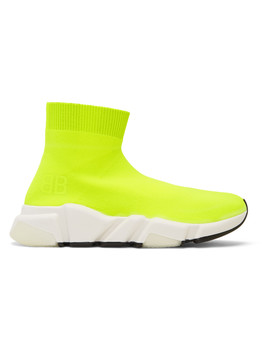 yellow-bb-speed-high-top-sneakers by balenciaga