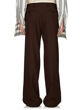 plain-weave-wide-leg-trousers by dries-van-noten