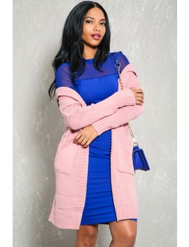 sexy-dusty-pink-chunky-knit-hooded-cardigan by ami-clubwear