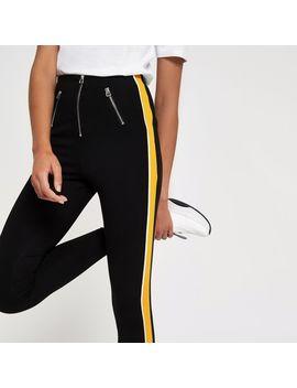 black-stripe-side-leggings by river-island