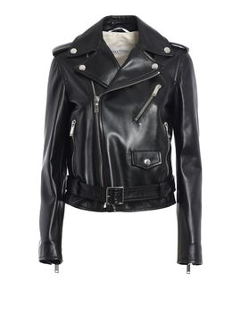 valentino-classic-leather-jacket by valentino