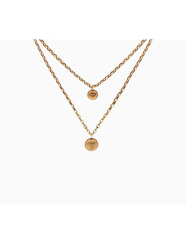 amulettes-damour-necklace-in-aged-gold-tone-metal by dior