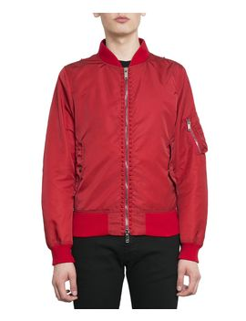 valentino-rockstud-untitled-bomber-jacket by valentino