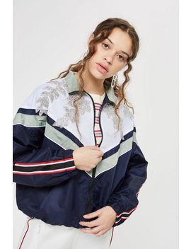 petite-embellished-windbreaker-jacket by topshop