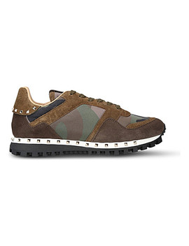 rockstud-camo-suede-trainers by valentino
