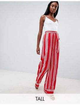 missguided-tall-striped-wide-leg-trousers by missguided-tall