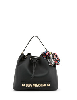 black-logo-drawstring-bucket-bag by love-moschino ---------------- ------------sold-out