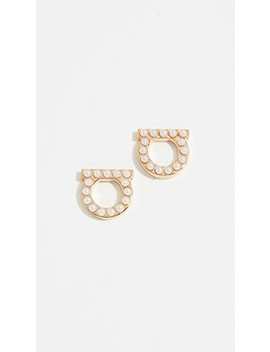 gancio-stud-imitation-pearl-earrings by salvatore-ferragamo