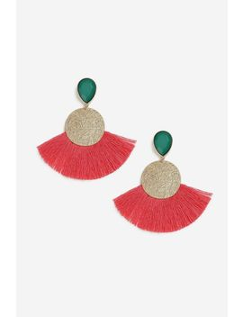 **etched-disc-and-fan-earrings by topshop