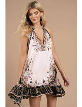free-people-steal-the-sun-ivory-printed-tunic-dress by tobi