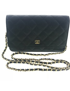 wallet-on-chain-black-leather-cross-body-bag by chanel