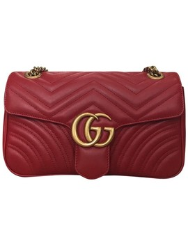 marmont-gg-red-lambskin-leather-shoulder-bag by gucci
