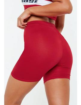 Red Cycling Shorts by Missguided