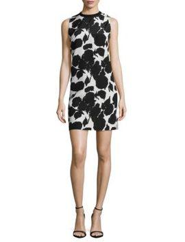 Printed Sleeveless Silk Shift Dress by Derek Lam