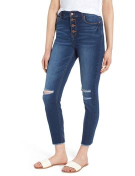ripped-high-waist-ankle-skinny-jeans by tinsel