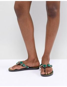 river-island-printed-embellished-flip-flops by river-island