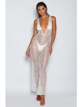adela-lace-jumpsuit---white by meshki
