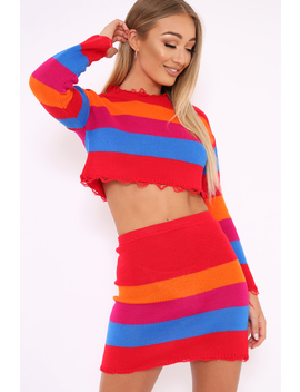 multi-coloured-knitted-cropped-jumper-and-skirt-co-ord---lahna by rebellious-fashion