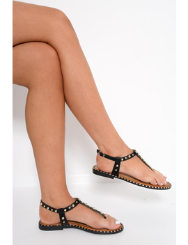 black-gold-studded-split-toe-sandals----adrita by rebellious-fashion