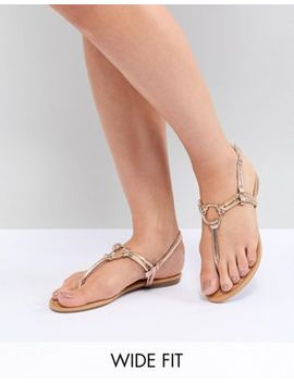 park-lane-wide-fit-flat-sandals by sandals