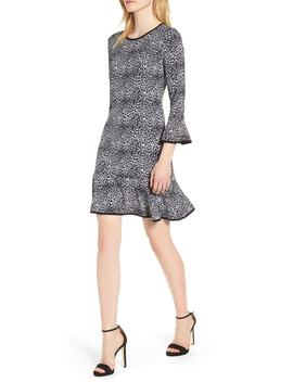 wavy-leopard-flounce-dress by michael-michael-kors