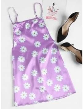 floral-print-backless-slip-dress---mauve-m by zaful