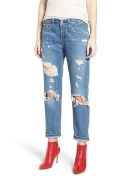 501-taper-ripped-boyfriend-jeans by levis®