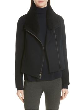 double-face-genuine-shearling-collar-jacket by vince