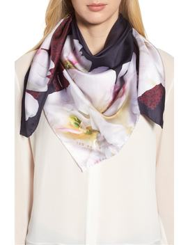 gardenia-square-silk-scarf by ted-baker-london