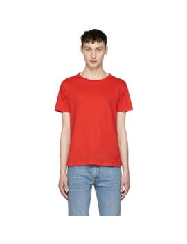 red-simple-t-shirt by saint-laurent