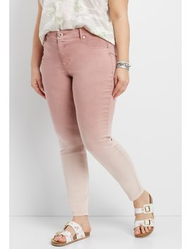 Denim Flex™ Plus Size Mauve Ombre Jegging by Maurices