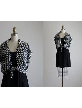 silk-dot-blouse by etsy
