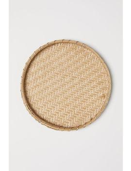 geflochtenes-bambustablett by h&m