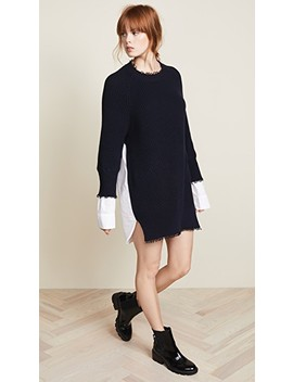 hybrid-varsity-sweater-dress by t-by-alexander-wang