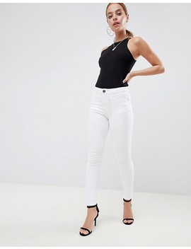 asos-design-petite-ridley-high-waist-skinny-jeans-in-optic-white by asos-design