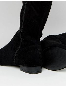 asos-–-kasba-–-flache-overknee-stiefel-mit-weiter-passform by asos-collection