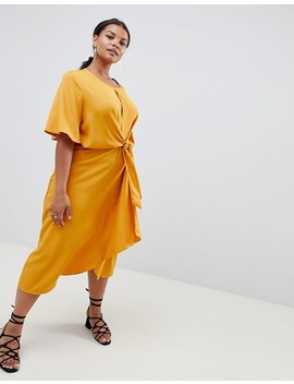 missguided-plus-knot-front-dress by missguided