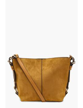 maisie-suedette-metal-detail-cross-body-bag by boohoo