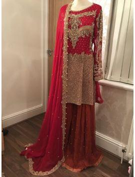 bridal-or-party-pakistani-formal-suit-peplum-chiffon-sharara by ebay-seller
