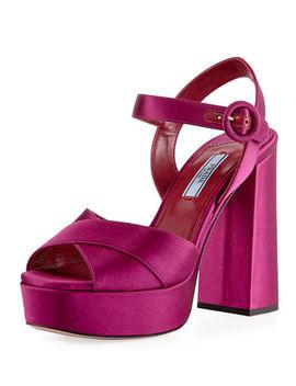 satin-crisscross-115mm-platform-sandal by prada