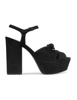 farrah-bow-embellished-suede-platform-sandals by saint-laurent