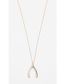 18k-rose-gold-wishbone-necklace by jennifer-meyer-jewelry